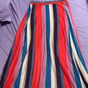 Free People Multi Color Skirt